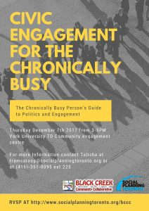 Civic Engagement for the Chronically Busy @ York University-TD Community Engagement Centre  | Toronto | Ontario | Canada